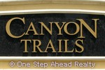 Canyon Trails community sign